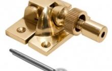 Lockable Brighton fastener Brass