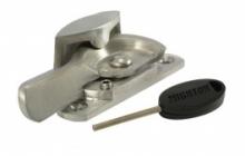 Lockable fitch fastener satin chrome